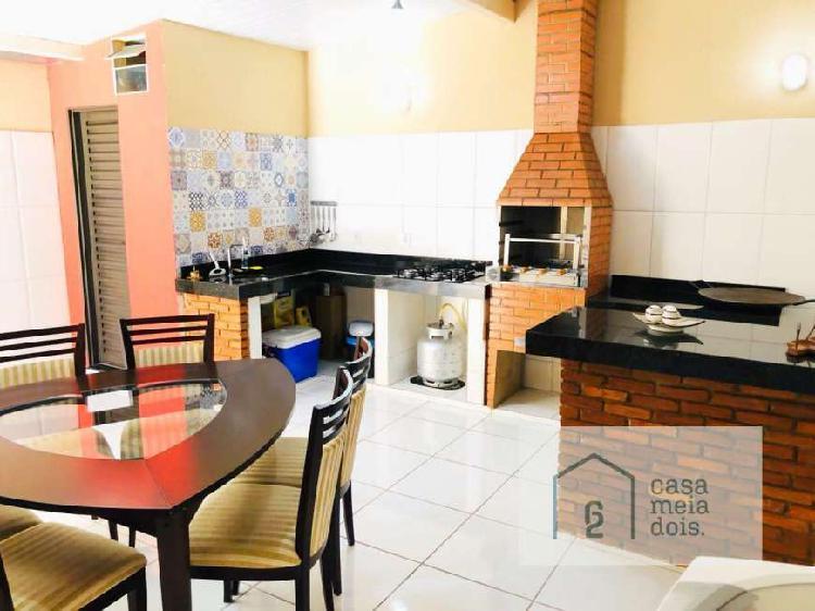 Casa de 3 quartos com churrasqueira - santa luzia -