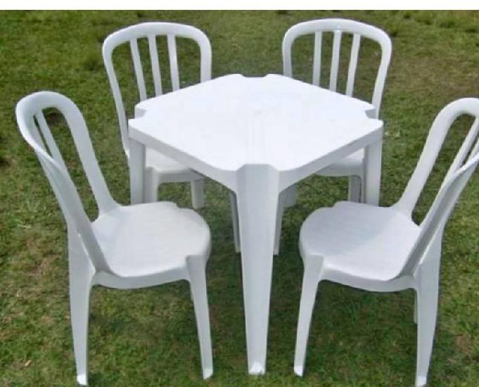 Mesa e cadeiras bistrô certificada junto ao inmetro p182kg
