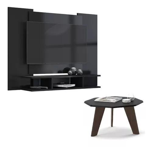 Painel de tv + mesa de centro / suporte p/ tv / preto fosco