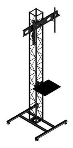 Pedestal para tv de chão - suporte tv piso torre treliçada