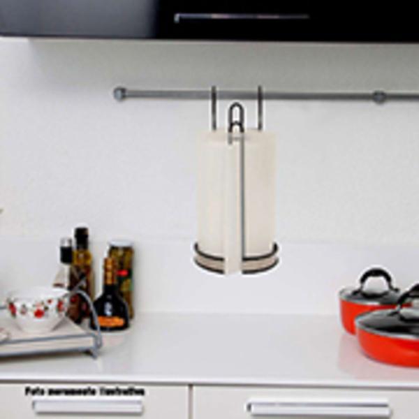 Porta rolo papel inox p/ pendurar porta d armário ou varão