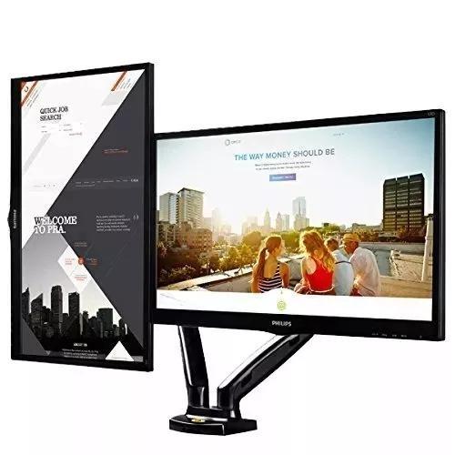 Suporte para 2 monitores articulado mesa 15 a 27 f160n elg