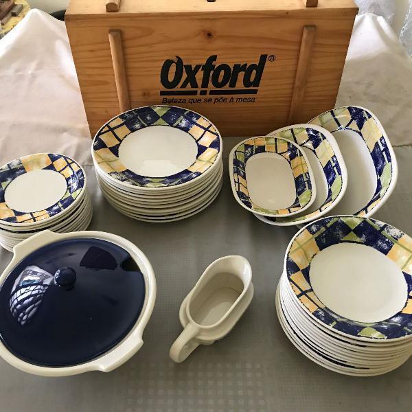 Aparelho jantar oxford (falta 1 prato raso)