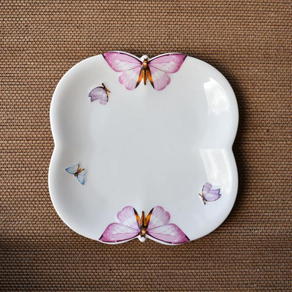 Conjunto 6 pratos de sobremesa porcelana (648)