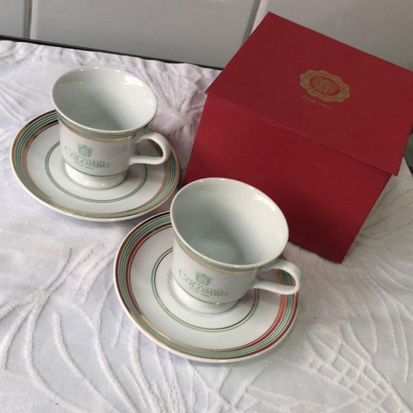 Conjunto de xícaras de chá confeitaria colombo