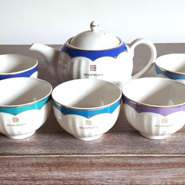 Conjunto para chá de porcelana givenchy
