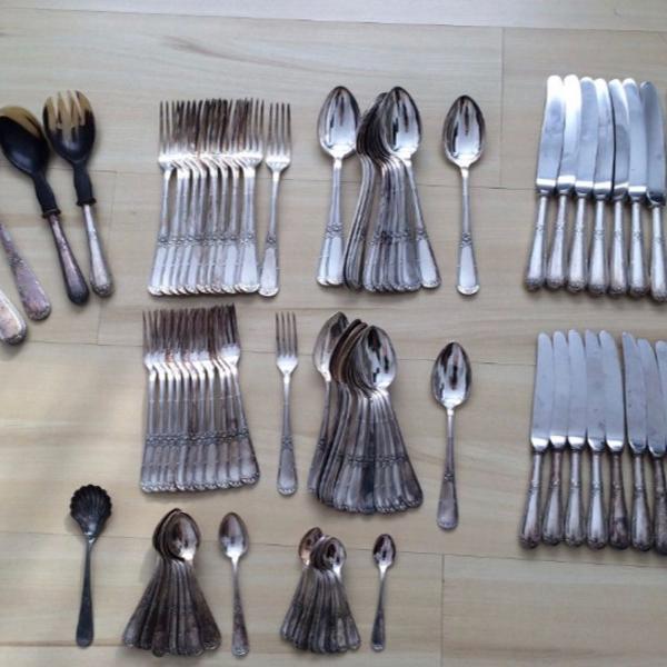 Faqueiro de prata wolf 90 completo 101 peças