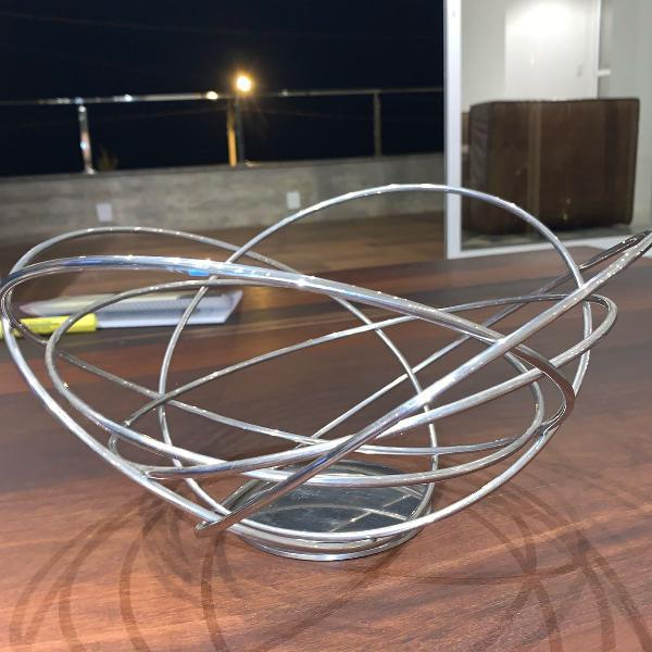 Fruteira redonda inox potenza - riva
