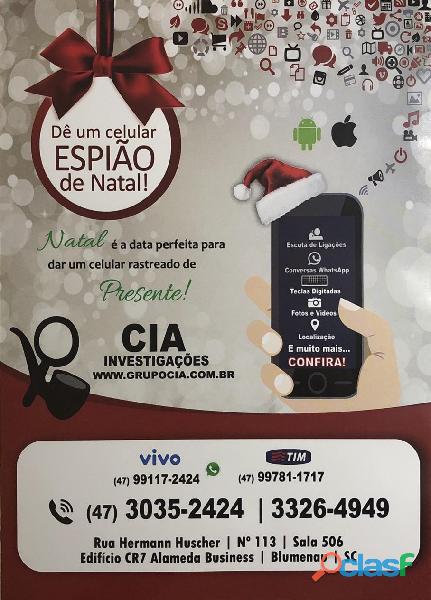 Grupo cia   natal app celular espião