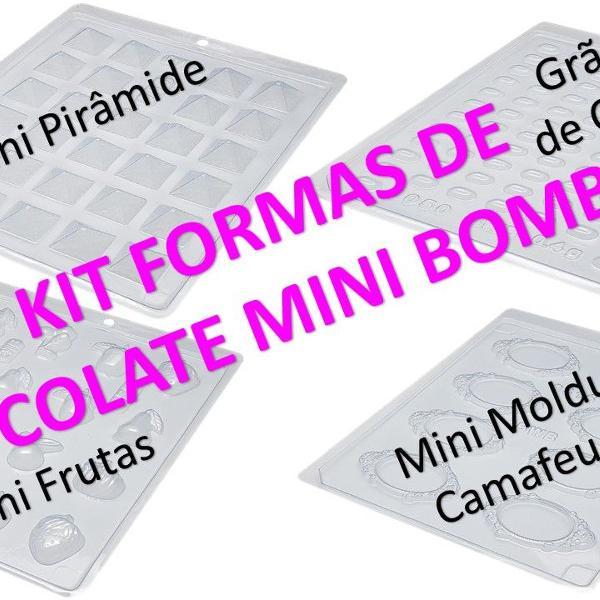 Kit 04 formas de chocolate - mini bombons