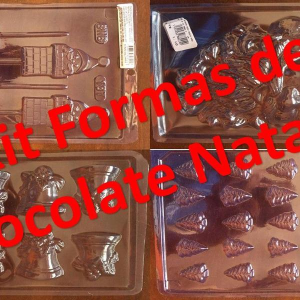Kit 04 formas de chocolate natal 01