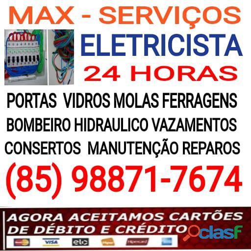 Max   eletricista 24hs (85) 98871 7674