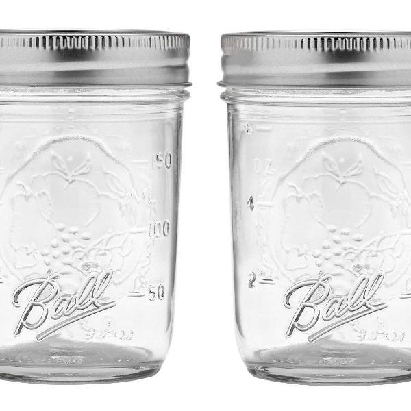 Porta alimentos porta temperos de vidro jarra ball mason jar