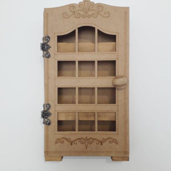 Porta condimentos tempero madeira e mdf cru