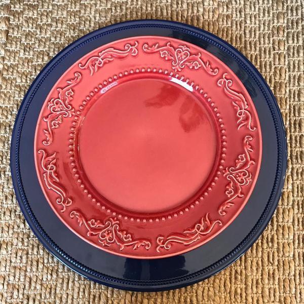 Prato vermelho porto brasil 4 un. (044)