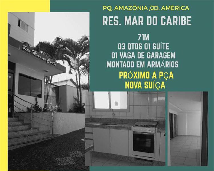 Apartamento parque amazônia )3 qtos 71m divisa com jardim