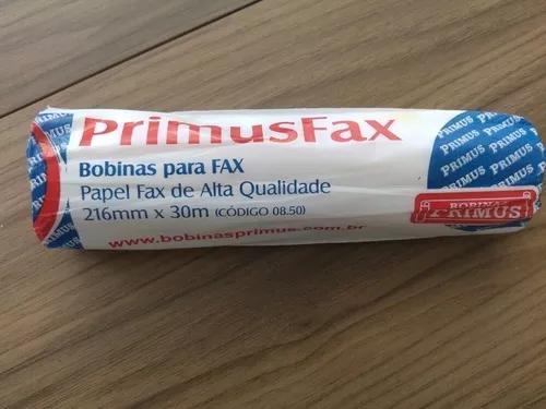 Bobina para fax papel 216mm x 30 m - 06 rolos
