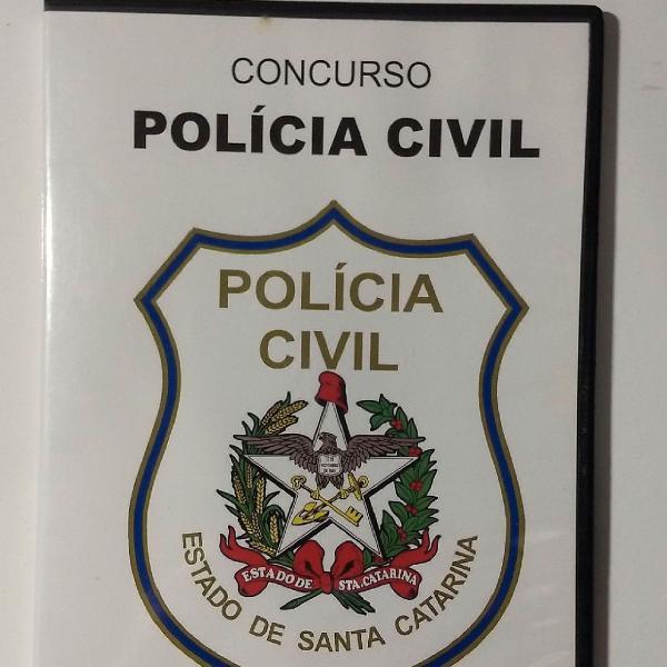 Cd-rom concurso polícia civil de santa catarina