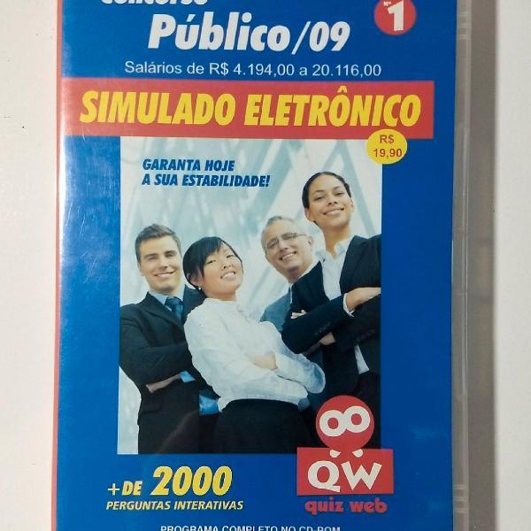 Cd-rom concurso público /09 - simulado eletrônico