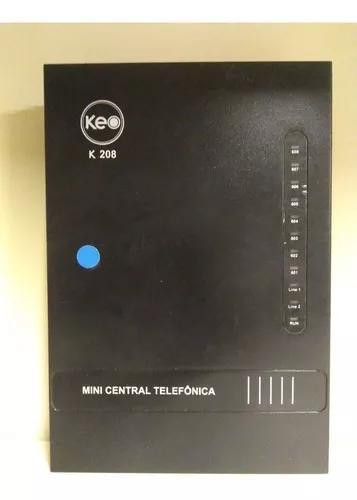 Central telefonica pabx 2 linhas x 8 ramais keo compacta