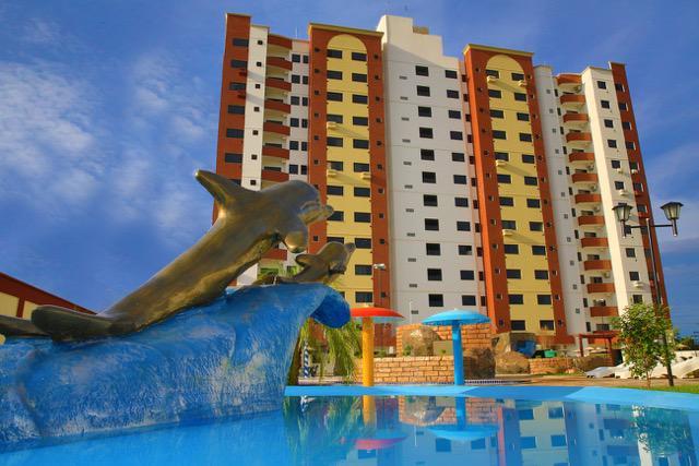 Flat golden dolphin
