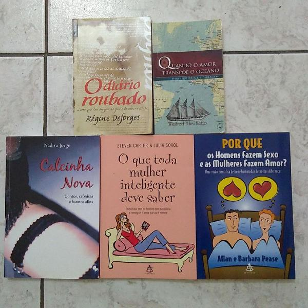 Lote de livros