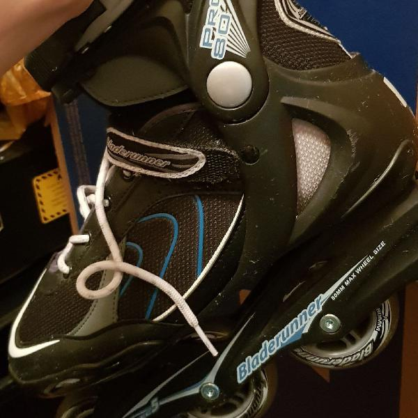Patins blade runner, patins oxer e kit proteção