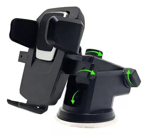 Suporte porta celular de carro trava automática rotação