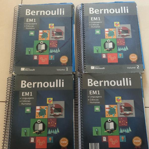 Apostilas bernoulli 1° ano kit 9volumes