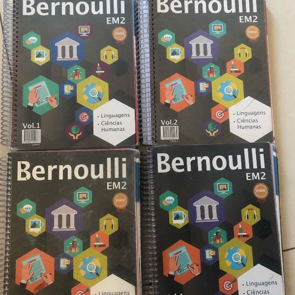 Apostilas bernoulli 2° ano kit 9volumes