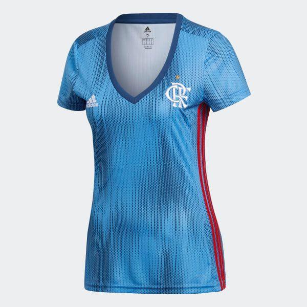 Camisa flamengo feminina 3 adidas azul tam m e g