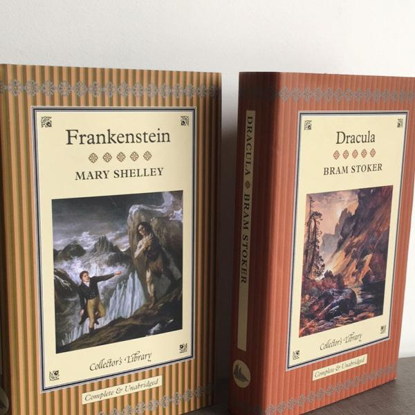 Livro dracula e frankenstein - collectors library collection