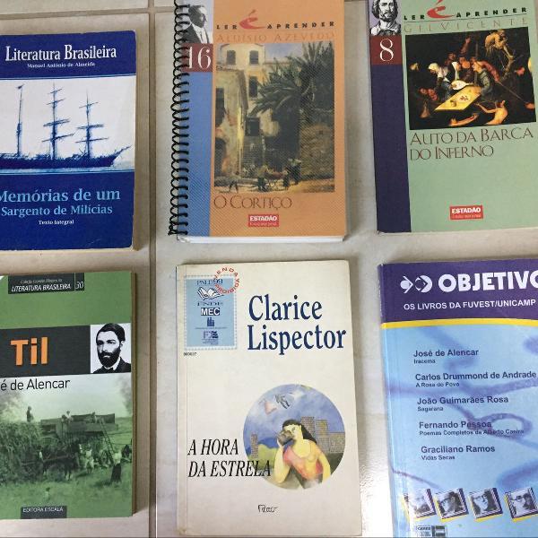 livros para vestibular e escolar