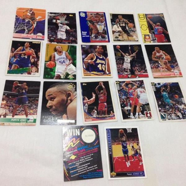 Lote 17 cards nba original anos 90 e 2000 ler tudo r$86