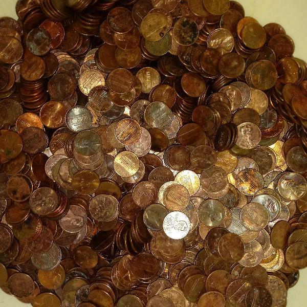 Moedas one cents dos estados unidos