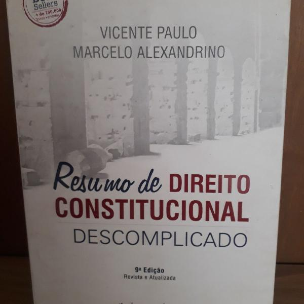 Resumo de direito constitucional descomplicado