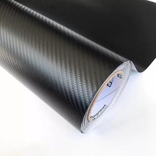 Adesivo envelopamento fibra de carbono 3d impimax 1,40x30cm