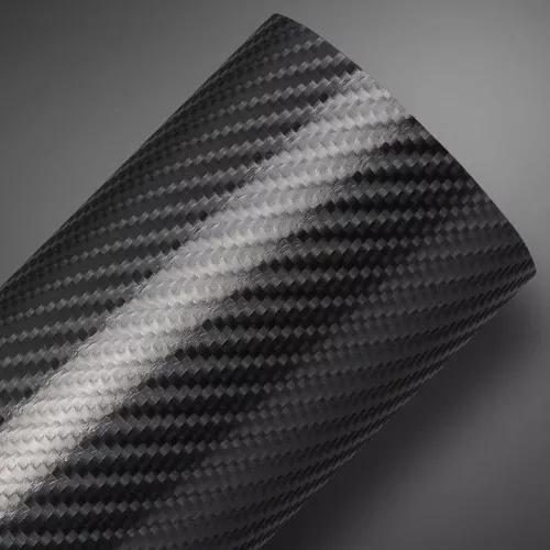 Envelopamento fibra carbono 4d tunning 1,50m x 30cm