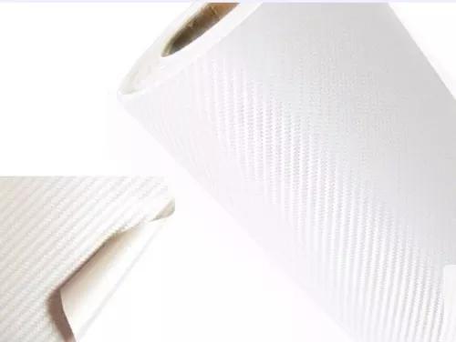 Envelopamento fibra de carbono branco 1m x 1,22m