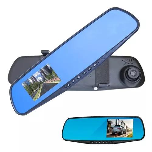 Espelho retrovisor com câmera frontal full hd e câmera de