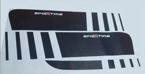 Kit Faixas Adesivos Palio Sporting Atractive Fibra Carbono