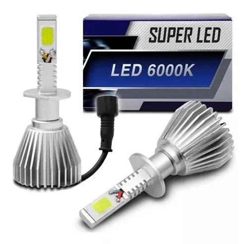 Kit lampada led h4 6000k super branca tipo xenon automotiva