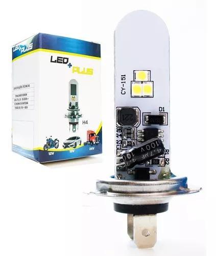 Lampada led h4 h7 6000k moto / carro / caminhão super