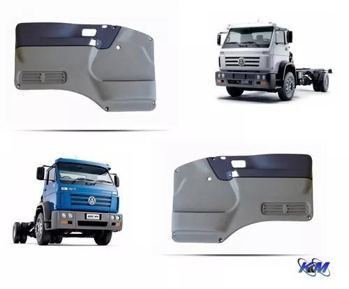 Par forro porta caminhão volkswagen worker titan cinza azul