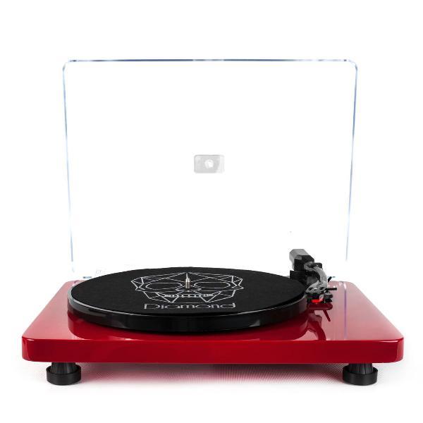 Vitrola toca-discos diamond red agulha japonesa com kit de