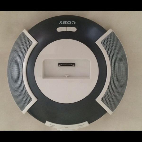 Caixa acústica com conector dock para ipod, mp3 e mp4
