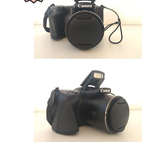 Câmera canon powershot sx400 is black semi nova