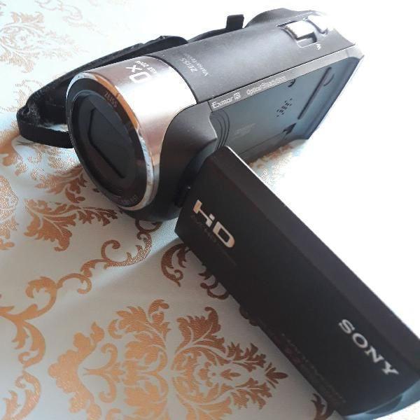 Handycam sony hdr-cx405 - filmadora full hd 1080 - usei 2x e