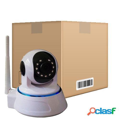 Kit com 4 Câmeras IP HD Áudio Angulo 360º Ircut 10m Noturna WiFi