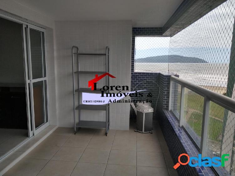Apartamento 2 dormitórios vista para o mar itararé sv!